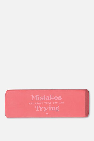 Jumbo Eraser, MISTAKES ARE TRYING