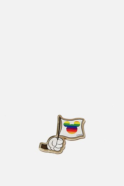 Licensed Metal Stickers, LCN DIS PD RAINBOW FLAG