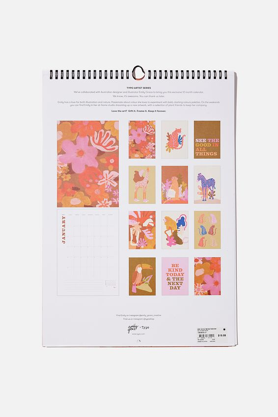 2021 A3 Art Series Calendar, ARTISNAL FORMS