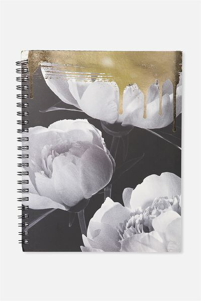 A4 Campus Notebook - 240 Pages, FLORAL BOSS BABE