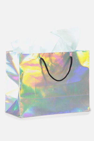 Stuff It Gift Bag Medium With Tissue Paper, IRIDESCENT