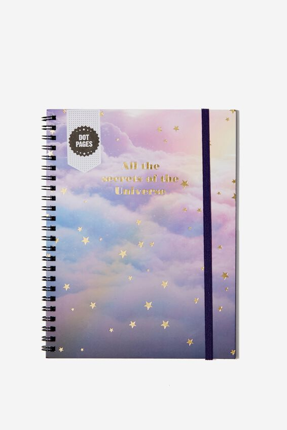 A5 Spinout Notebook Dot Page, SECRETS OF THE UNIVERSE