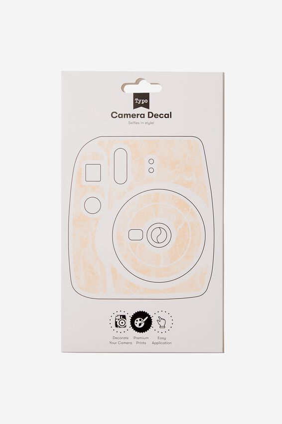 Camera Decal, BLUSH MARBLE