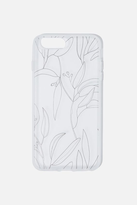 Snap On Protective Phone Case 6, 7, 8 Plus, GUMNUT LEAVES