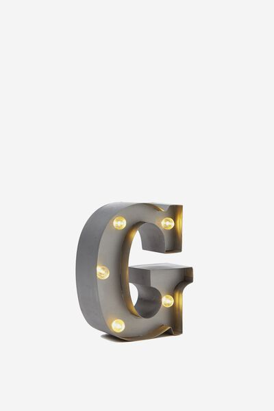 Mini Marquee Letter Lights 10cm, SILVER G
