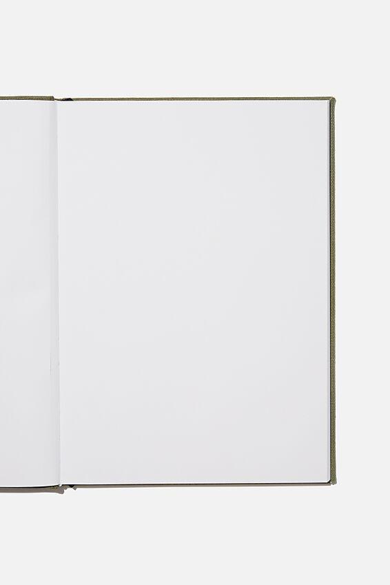 A4 Sketch Notebook, KHAKI CANVAS