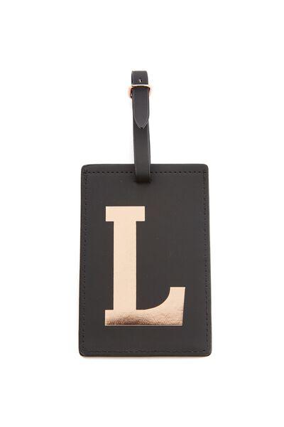 Alphabet Luggage Tag, L