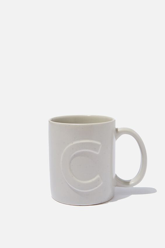 Alphabet Anytime Mug, SPECKLED C