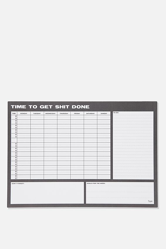 A3 Plan Ahead Planner, TIME TO GET IT DONE BLACK