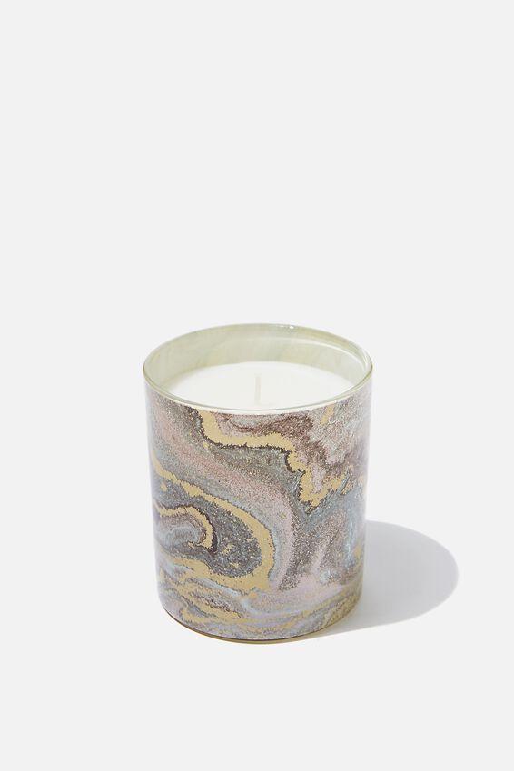 Printed Jar Candle, GLITZ MARBLE