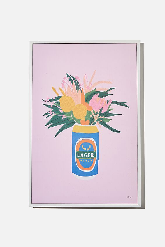40 X 60 Canvas Art, CAN OF FLOWERS