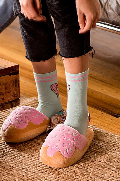 Novelty Slippers, DONUT