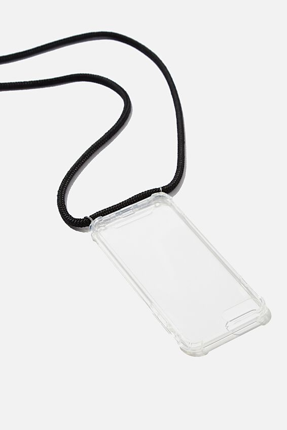 Cross Body Phone Case Iphone 6, 7, 8, CLEAR & BLACK