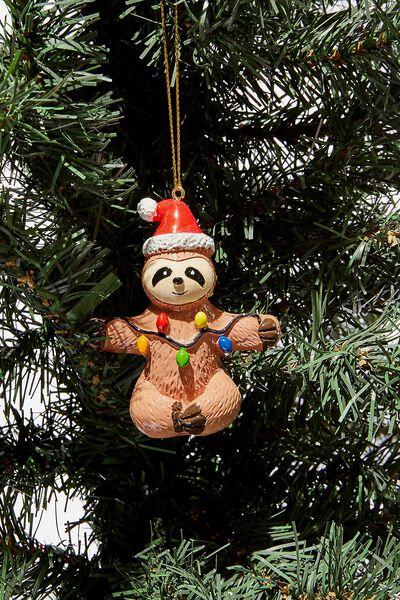 Christmas Ornament, SLOTH WITH LIGHTS