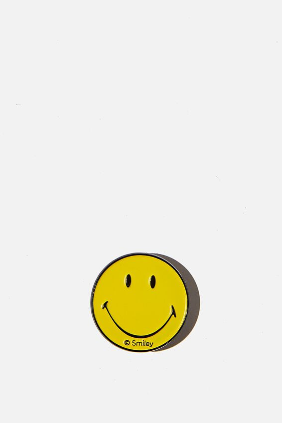 Smiley Enamel Badge, LCN SMI SMILEY FACE