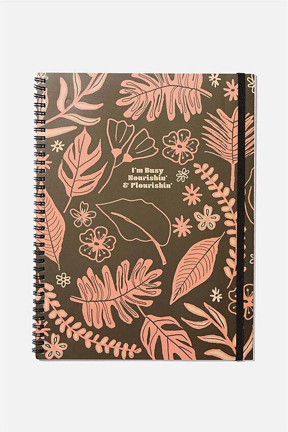 A4 Spinout Notebook Recycled, FLOURISHING