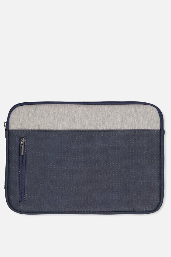 Take Charge Laptop Cover 13 inch, NAVY & GREY