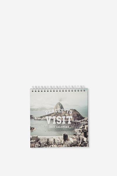 2019 Flip Desk Calendar, CITIES OF THE WORLD