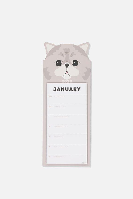 2020 Magnetic Memo Calendar, ANIMALS