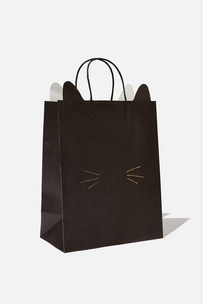Novelty Stuff It Bag Medium, BLACK CAT FACE