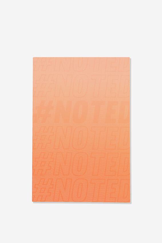 A5 Textured Notebook, ORANGE NOTES