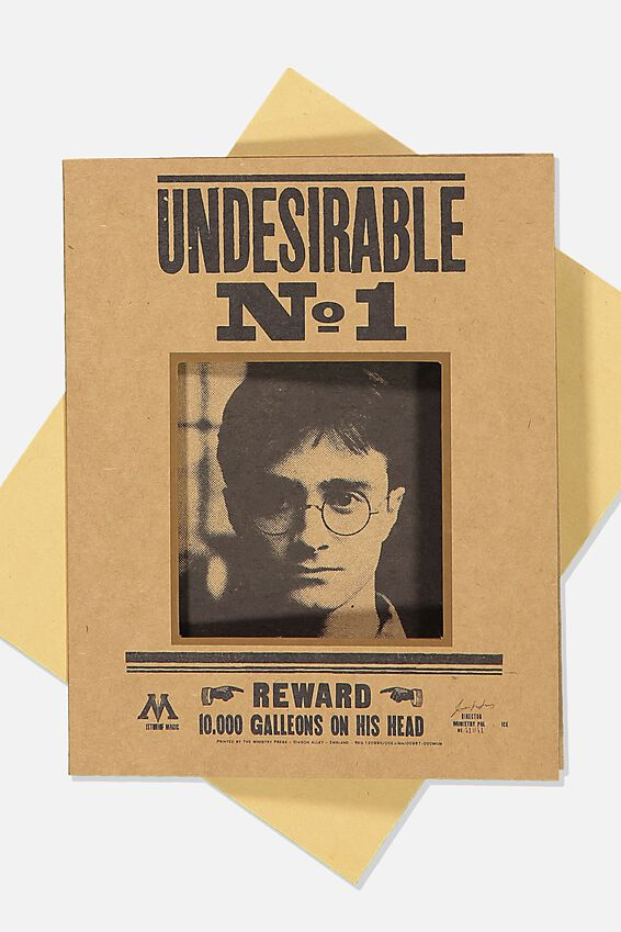 Harry Potter Nice Birthday Card, LCN WB HPO UNDESIRABLE