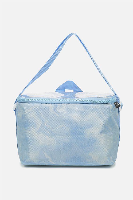 Premium Cooler Lunch Bag, GLITTER CAN'T TALK EATING