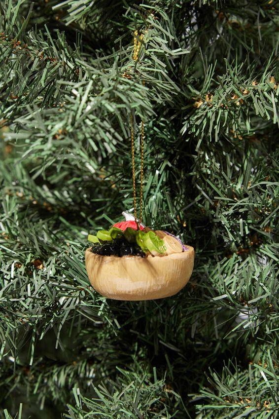 Resin Christmas Ornament, ACAI BOWL
