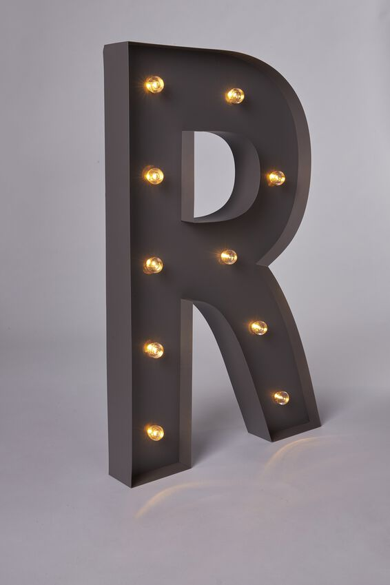 Marquee Letter Lights 70cm, SILVER R