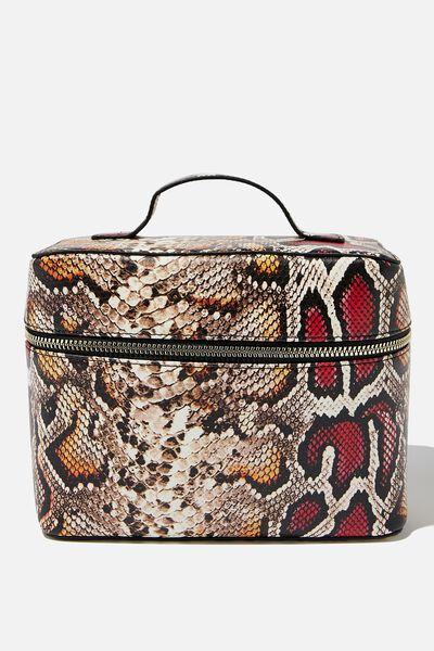Vacay Cosmetic Bag, MULTI SNAKE