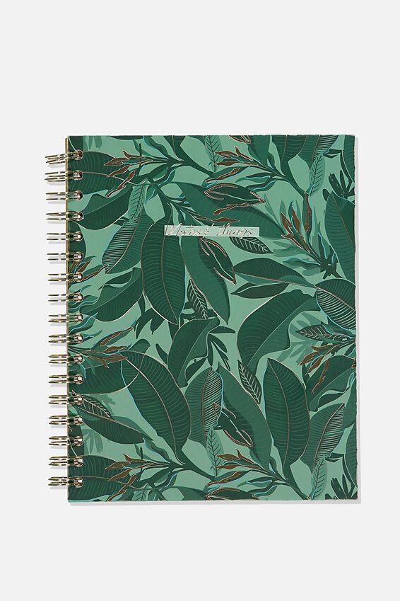 Ultimate Spiral Notebook, BONDI FOLIAGE