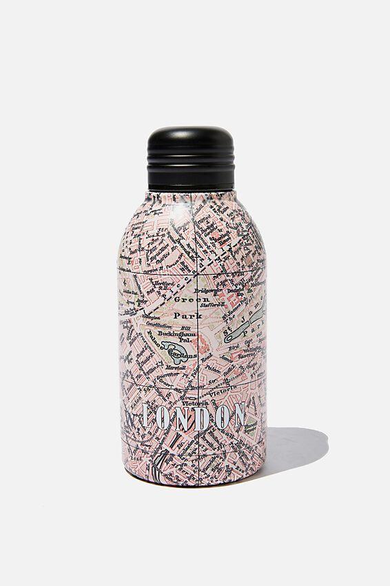 Mini Metal Drink Bottle, LONDON MAP
