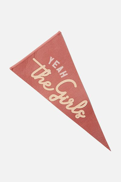 Pennant Wall Flag, YEAH THE GIRLS