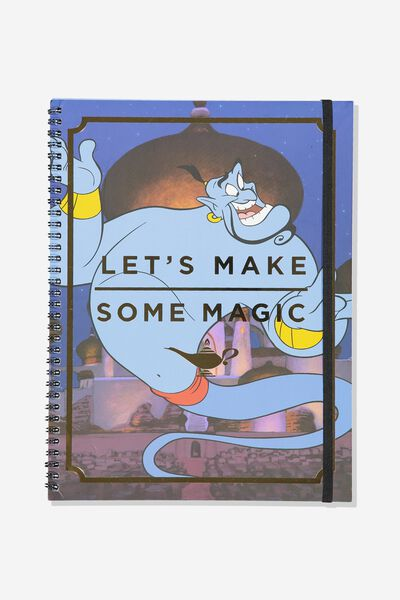 A4 Spinout Notebook - 120 Pages, LCN DIS ALADDIN GENIE