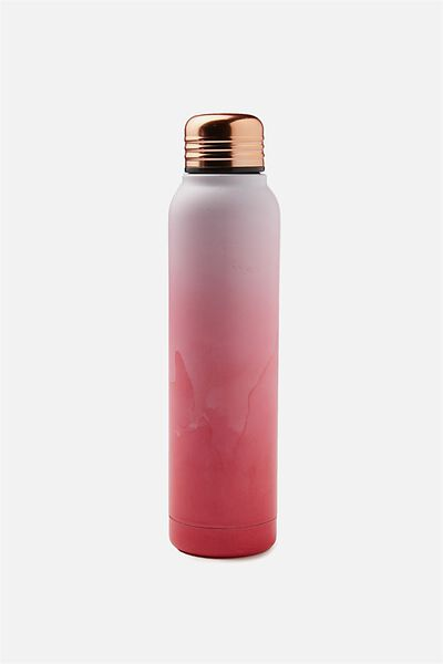 Small Metal Drink Bottle, WATERCOLOUR PINK