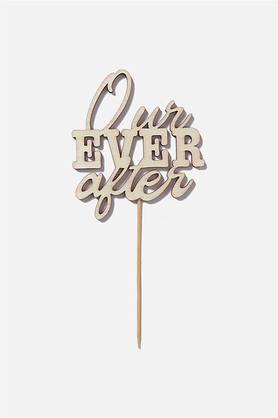 Novelty Cake Topper, OUR EVER AFTER