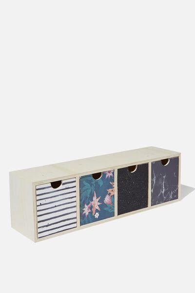 Quick Desk Drawer Storage, JUNGLE FLORAL