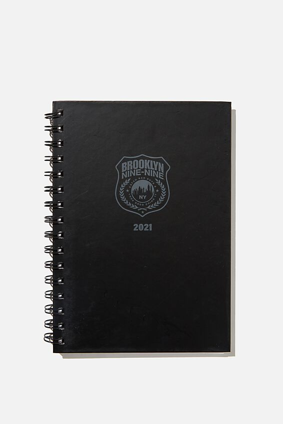 2021 A5 Brooklyn Nine-Nine Spiral Diary, LCN UNI BROOKLYN BADGE