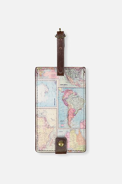 Travel bags travel wallets more typo core luggage tag world map typo gumiabroncs Gallery