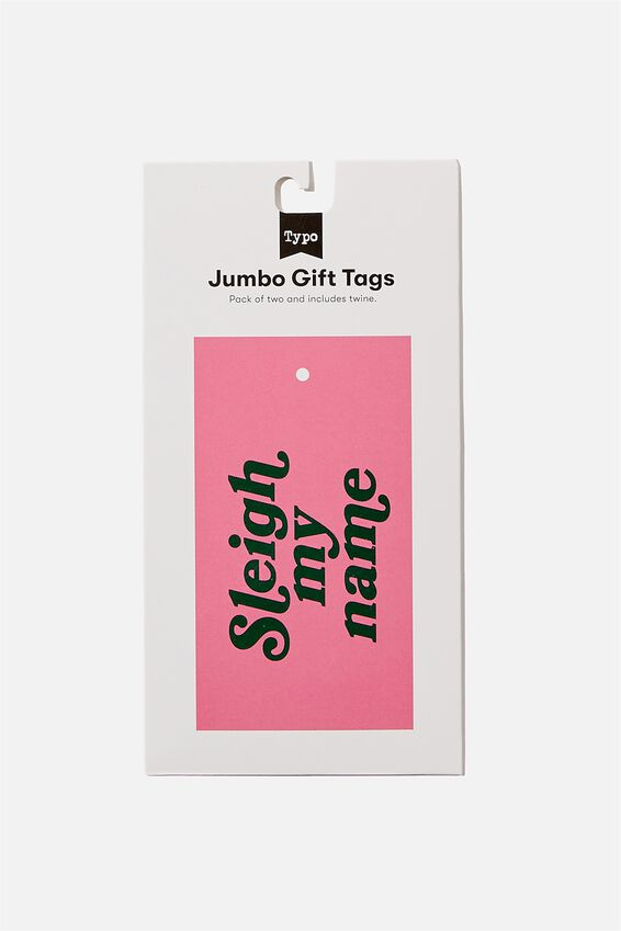 Jumbo Gift Tag Pack, SLEIGH MY NAME