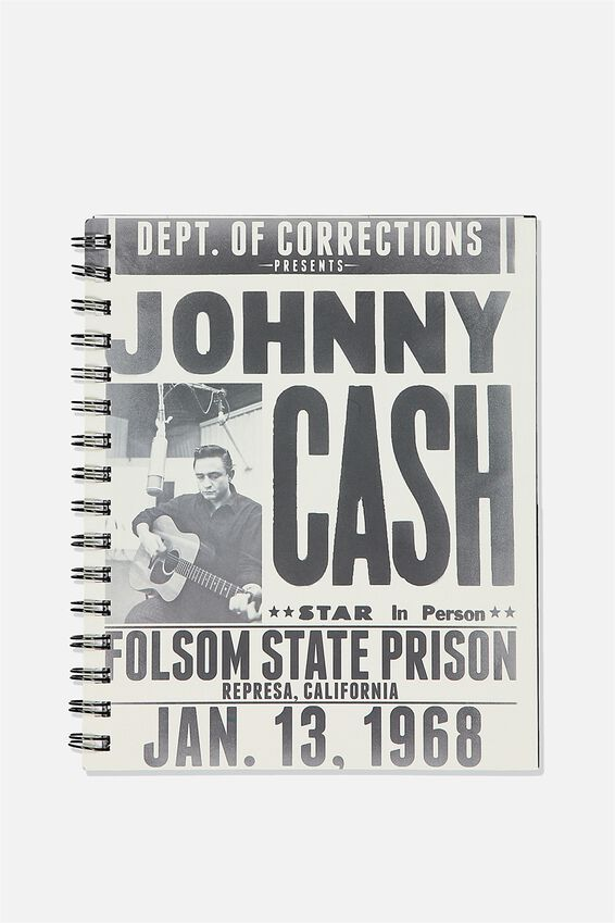 A5 Johnny Cash Campus Notebook Recycled, LCN MT JOHNNY CASH