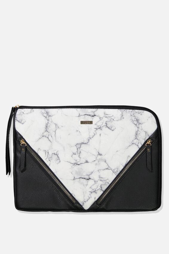 Premium Laptop Case 13 inch, WHITE MARBLE