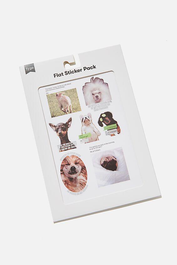 Flat Sticker Pack, DOGS