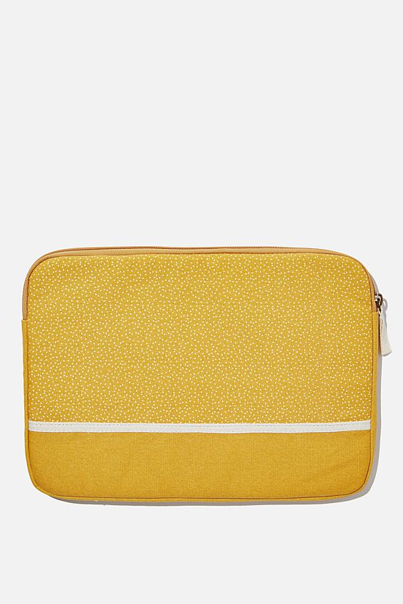 Canvas 13 Inch Laptop Case, MUSTARD MICRO SPOT