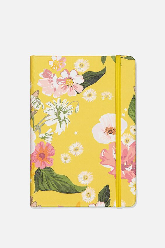 A5 Buffalo Journal, YELLOW FLORAL