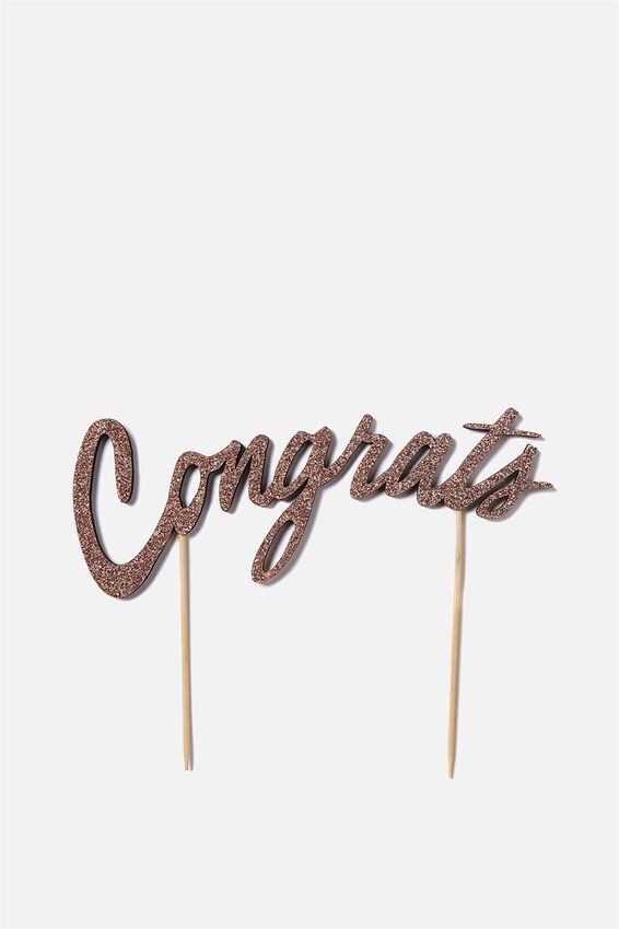 Novelty Cake Topper, CONGRATULATIONS