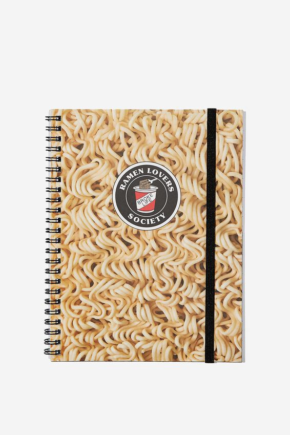 A5 Spinout Notebook - 120 Pages, RAMEN NOODLES