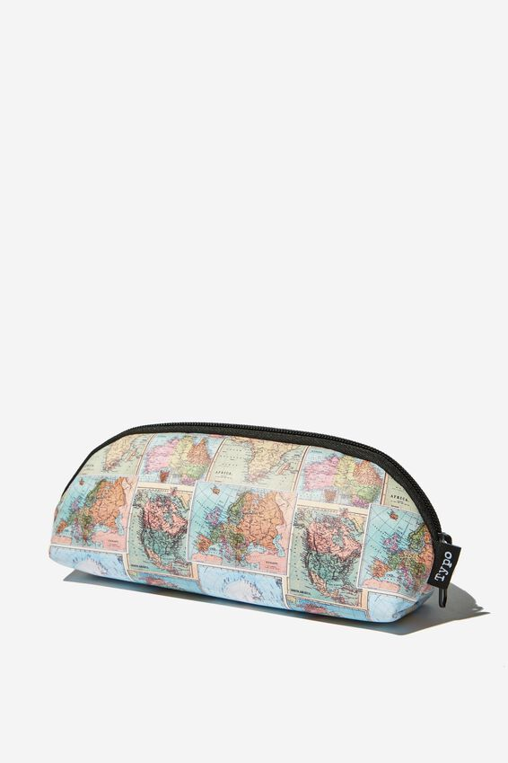 Curved Pencil Case, MAP TAN