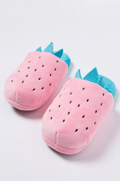 Novelty Slippers, STRAWBERRY