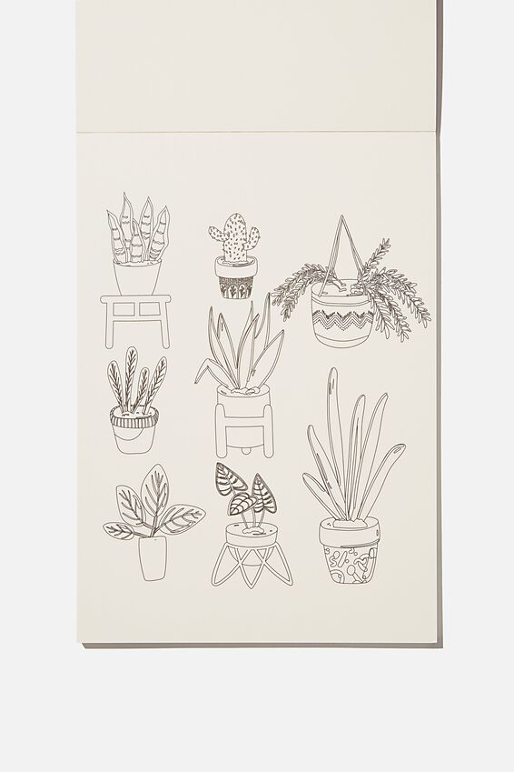 Artists Assistant Colouring In Book, BLOOMIN LOVE PLANTS